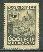 POLAND MNH ** 466 CENTENAIRE DE LA FONDATION DE BYDGOSCZ (BROMBERG) PORT FLUVIAL ET EGLISE PAROISSIALE