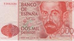 (B0192) SPAIN, 1980 (1983). 2000 Pesetas. P-159. XF-VF - [ 4] 1975-… : Juan Carlos I