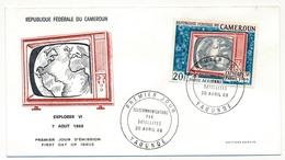 CAMEROUN => 3 Enveloppes FDC => 3 Val. Télécommunications Par Satellites - Yaoundé - 20 Avril 1968 - Cameroun (1960-...)
