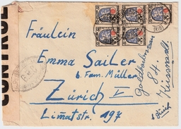 1946,klarer Zensur-Stp. , Seltener Zensur-Zettel    , #8202 - Zona Francese