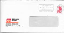 SAONE ET LOIRE 71   -  MACON GARE  - FLAMME : 14E BROCANTE / ENTENTE ATHLETISME / MACON 13 MARS  -THEME BROCANTE