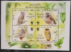 TS28 - Iran 2011  MNH Complete Set 4v. In One Minisheet - Birds - Asio Otus, Athene Brama, Otus Brucei, Ketupa Zeylonens - Iran