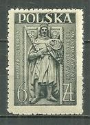 POLAND MNH ** 472 JOURNEE DE L´ARCHITECTURE. MONUMENT FUNERAIRE DE HENRYK IV à WROCLAW (BRESLAU), ARMURE
