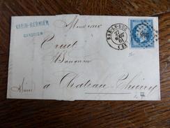 Lt Du27.05.17_ LAC  Avec N°14 Bleu   Nuance , De Bar-le-duc,verso!!,variété,