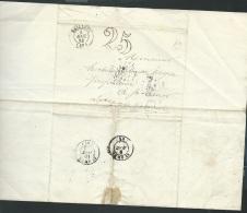 Lettre De Saint Janz Cappel ( Boitier E ) Oblitéré Cad Bailleul ( Nord) L + TAXE 25 , Le 9 Aout 1852  - Aoa10201