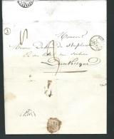 Lac De Wallon Cappel ( Boitier J  ) + CACHET 0 DATE HAZEBROUCK Le 27/01/1847  - Aoa10204