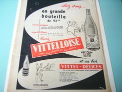 ANCIENNE PUBLICITE EAU VITTELOISE  1955 - Posters