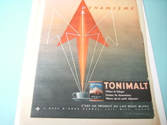 ANCIENNE PUBLICITE TONIMALT  LAIT MONT BLANC 1955 - Posters