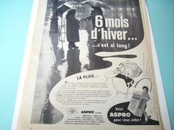ANCIENNE PUBLICITE ASPRO  1955 - Publicité