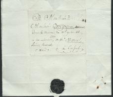 Marque 57 Bailleul Sur Lac Pour Cappel Le 27/03/1812 + Cachet Heraldique Noir - Aoa10202