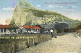 Pays Div-ref J541- Rock From Neutral Ground , Gibraltar - Postcard In Good Condition  - - Gibraltar