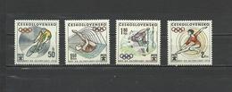 CZECHOSLOVAKIA  Olympics  Olympic Games  Munchen 1972 4v. Perf.