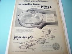 ANCIENNE PUBLICITE PLAT PYREX 1955 - Posters