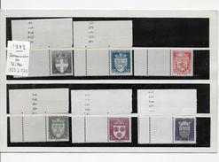 France  --  Armoiries Des Villes   -- Y.T. 553  à  564  --12 Timbres  Neufs **  --1942  -- T. B.E