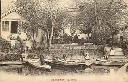 - Yvelines -ref-B603- Dennemont - Cafe Restaurant - Cafes - Restaurants - Barque - Barques - Carte Bon Etat - - Frankreich