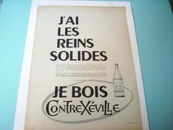 ANCIENNE PUBLICITE EAU CONTREXEVILLE  1955 LES REINS SOLIDES - Posters
