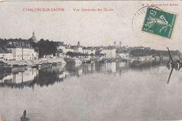Cp , 71 , CHALON-sur-SAÔNE , Vue Générale Des Quais - Chalon Sur Saone