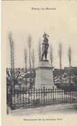 Cp , 71 , PARAY-le-MONIAL , Monument De La Défense 1870 - Paray Le Monial