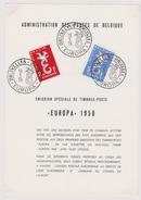 Feuillet Poste FDC 1064 1065 Europa - 1951-60