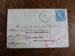 Lt Du27.05.17_ LSC  Avec N°29 De Uriane,verso!!,variété, Reéxpediée