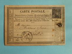 SAGE 89 SUR PRECURSEUR DES CARTES POSTALES DE AVIGNON A CHOLET DU 12 JANVIER 1879