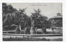 (RECTO / VERSO) LUCON - N° 55 - JARDIN PUBLIC - LE BASSIN AVEC KIOSQUE - BEAU CACHET - CPA VOYAGEE - Lucon