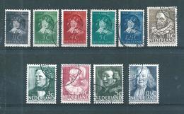 Pays Bas Timbres De 1936  N°299 A 308    Oblitérés