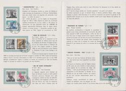 2 Scans Feuillet Poste FDC 1082 à 1088 Noël Légendes Et Folklore Belge - FDC