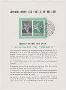 Feuillet Poste FDC 1093 Journée Du Timbrfe J.B. De Tassis