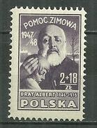 POLAND MNH ** 508 Secours D´hiver, Frère Albert, Enfant, Religion