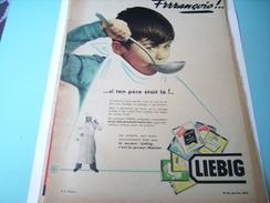 ANCIENNE PUBLICITE SOUPE LIEBIG 1953 FRANCOIS - Posters