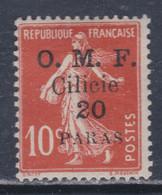 Cilicie N° 91  X  20 Pa Sur  10 C. Rouge ,  Trace De  Charnière Sinon TB - Cilicia (1919-1921)