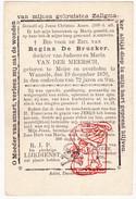 DP Regina De Brucker / Van Der Meersch ° Meire ( Erpe-Mere ) 1804 † Wanzele Lede 1876 - Images Religieuses