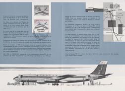 Feuillet Poste FDC 1113 Sabena Boeing 707 Avion Aviation Plane Airplane