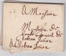 LAC De Grenoble (38) Pour Châteaurenard (13) - 15 Novembre 1640 - Sans Marque Postale