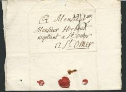 Lac De Lille Pour Saint Omer Le 2/07/1780 - Aoa10301