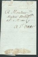 Lac De Lille Pour Saint Omer Le 26/04/1780 - Aoa10302