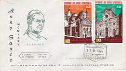 STORIA POSTALE  -  GUINEA EQUATORIALE - BUSTA - ANNO SANTO . S.S. PAULUS VI  1974 - Guinea Equatoriale