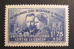 LOT R1703/111 - 1938 - P Et M CURIE -  N°402 NEUF ** - Cote : 27,00 € - Nuovi