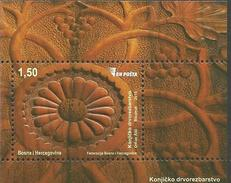 BH 2015-684 WOODCARVING, BOSNA AND HERZEGOVINA, S/S, MNH