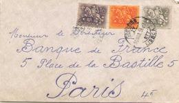 PORTUGAL ENVELOPPE DU 30 MARS 1958 DE LISBONNE POUR PARIS