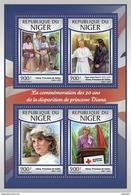 NIGER 2017 - Princess Diana, Handicaps. Official Issue