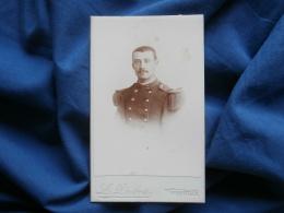 Photo CDV L. Léon Dubois à Granville - Portrait Nuage Militaire Du 2e D'infanterie L310A - Old (before 1900)