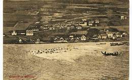 8117  -  Iles FEROE  : GRINDEDRAP MIDVAAG  ,  La Pêche Aux Dauphins ???,   - édit :J. Lützen, Thorshaun - Eneret 17363 - Faroe Islands