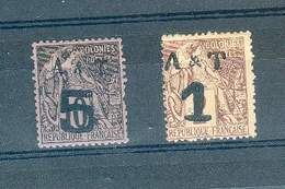 ANNAM ET TONKIN N°1 NSG ET 4 N*  Cote 2013 100 EUROS TB - Annam Et Tonkin (1892)