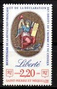 SPM Saint Pierre Et Miquelon  N° 499 Neuf  XX MNH  Luxe  Cote Y&T  1,25  €uro - St.Pierre & Miquelon