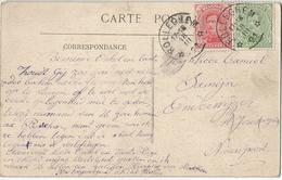 6Rm-720: Château Bayard : N° 137&138: * ROLLEGHEM* 21 > Nieuwpoort : Sterstempel