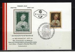 ÖSTERREICH - FDC Mi-Nr. 1379 Weihnachten Stempel Wien - Postkarte (2) - FDC