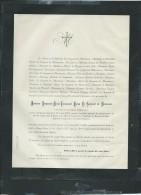 Saint Omer Deces De Benjamin Marie Emmanuel Baron Le Sergeant De Monnecove Le 16 04 1883  - Aoa10403 - Décès