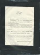 Saint Omer   Deces De  Marie Euphrosine Louise De Hau De Staplande Le 9/01/1887- Aoa10408 - Décès